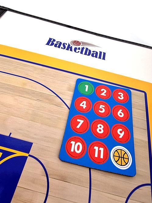 Panneau tactique Basketball - effaçable et magnétique - modèles au choix