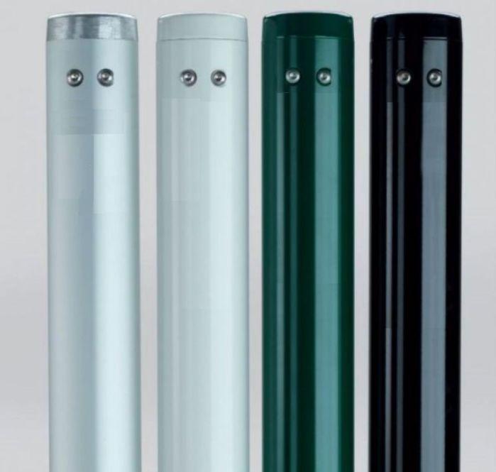 Poteaux de tennis ronds amovibles - aluminium avec fourreaux - Couleur au choix