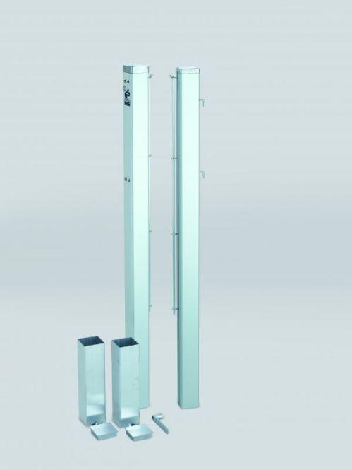 Poteaux de tennis carrés amovibles - aluminium - Couleur au choix